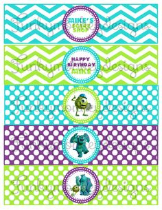 Diy Monster Inc Disney Inspired Birthday Party Digtial by zsbows, $2.00
