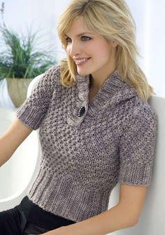 Modelli a maglia: maniche corte | Handmade by Beads and Tricks