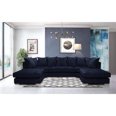 Corner Sofa Living Room, Eclectic Living Room, Living Room Designs, Dining Room, U Shaped Sofa Bed, U Shaped Sectional Sofa, Modular Sofa Bed, Modular Corner Sofa, Chesterfield Corner Sofa