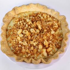 Clinton Kelly's (the chew) Coconut Cream Pie:    ingredients For the Coconut Crumble: 1/4 cup Butter 2 tablespoons Light Brown Sugar 1/2 cup Flour 1/4 cup Sweetened Coconut For the Filling:...