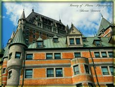 Chateau Frontenac ~ Old Quebec City ~ Feel free to like & share picture, and my page :) at: www.facebook.com/beautyofphotosphotography Also check out my new website at: www.sharon109.wix.com/beauty-of-photos #ChateauFrontenac #Old #QuebecCity #Quebec #Hotel #Canada Old Quebec, Quebec City, Photos, Pictures, Canada, Mansions, Facebook, Website, House Styles