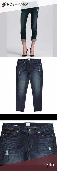 """New RICH & SKINNY Relaxed Cropped Ankle Crop Jeans NWOT. These new balboa ankle cropped jeans from Rich & Skinny feature a slim leg, distressed denim and a cropped inseam. Measures: waist: 33"""", rise: 8.5"""", hips: 39"""", inseam: 28"""" Rich & Skinny Jeans Ankle & Cropped"""