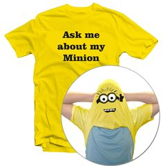 KIDS GIRLS BOYS ASK ME ABOUT MY MINION FUNNY DESPICABLE ME FLIP T-SHIRT | eBay