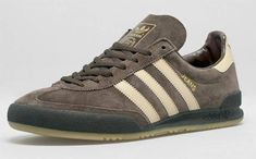 X adidas Jeans Mk Ii (Dark Brown/Sand) - Sneaker Freaker Adidas Jeans Shoes, Shoes With Jeans, Adidas Sneakers, Shoes Sneakers, Adidas Jeans Trainers, Retro Sneakers, Casual Sneakers, Sneakers Fashion, Adidas Originals Jeans