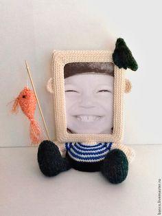 """Купить Рамка для фото """"Рыбачок"""" - фоторамка, рамка для фото, подарок на день рождения, в детскую, для дома"""
