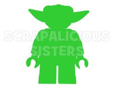 """4"""" Lego Inspired Personalized Yoda Iron On Vinyl Decal for Infant Size T-Shirt. $4.00, via Etsy."""