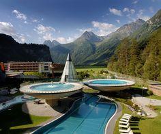 AQUA DOME im Sommer in Längenfeld, Tyrol, Austria