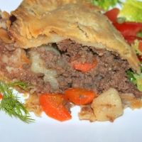 Old Fashioned Meat Pie Recipe. Add celery, garlic, and mushrooms. Use grated carrots instead of sliced.