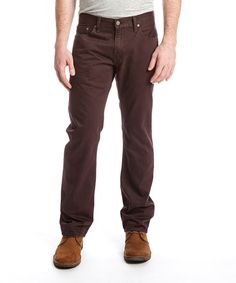 Look at this Levi's 514™ Slub Twill Trend Core Jeans - Burntwood on #zulily today!