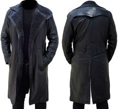 Xtreemleather present Ryan Gosling Blade Runner 2049 leather coat for men. Made from Synthetic Leather. Ryan gosling worn this stylish coat in movie blade runner Now Available at our online store in discounted price. Leather Flight Jacket, Bomber Jacket Men, Leather Jacket Man, Winter Trench Coat, Long Trench Coat, Blade Runner Jacket, Mens Leather Coats, Real Leather, Leather Jackets