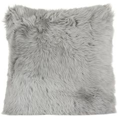 A by Amara New Zealand Sheepskin Pillow - 50x50cm - Light Gray ($141) ❤ liked on Polyvore featuring home, home decor, throw pillows, grey, grey home decor, grey accent pillows, textured throw pillows, gray accent pillows and colored throw pillows