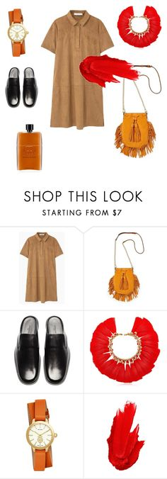 """Camel"" by futuraocculto ❤ liked on Polyvore featuring MANGO, Rebecca Minkoff, Balenciaga, VANINA, Tory Burch, Maybelline, Gucci and camel"