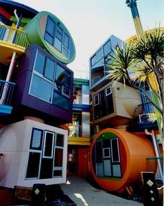 NY based architects Arakawa & Gins designed 'reversible destiny lofts' located in the Mitaka area of western Tokyo, Japan.