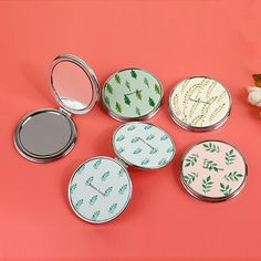 Double sided makeup pocket mirror