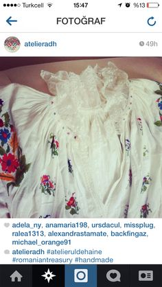 Romanian blouse Bride, Blouse, Clothing, Handmade, Wedding Bride, Outfits, Hand Made, Bridal, Blouses