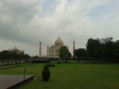 Far shot of The Taj Mahal, India
