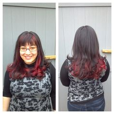 Red ombré by Diane!!! #red #redhair #wow #elumen #ombre #killinit #kmscalifornia #hair #haircut #sparkshairdesign www.facebook.com/sparkshairdesign www.sparkshairdesign.com
