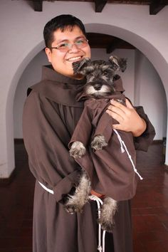 A little stray dog has joined the brotherhood at St. Francis Monastery in Cochabamba, Bolivia. The adorable furry monk has his own habit and a formal title: Friar Bigotón, which translates to Friar Mustache. The monastery was named after St. Francis of Assisi, the patron saint of animals, so it makes sense that the monastery …