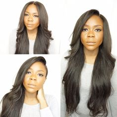 Color: 1BVolume: High (5-6 bundles)Texture: StraightTop: 13'' x 4 All Lace frontalLength: 24 InchesDensity: 400%This Peruca is a high volume, easy to style unit. The frontal allows you to part in the middle, on the side, as a ninja bun, and many more. Same Peruca, countless easy styles. We have attached flexible combs and elastic bands for added security and confidence. This Peruca is wefted on a mesh dome cap and can be straightened, dyed, and curled.