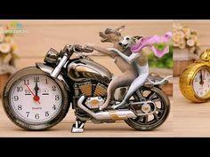 Настольные часы в виде мотоцикла - лучший подарок байкеру - YouTube