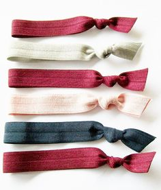 Hair Ties Set of 6 Color Trend Mix Lucky Girl by LuckyGirlHairTies