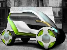 Slim Futuristic Vehicles: The Flur Car is Electronically Controlled