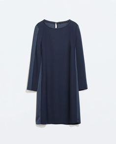 Image 5 of STRAIGHT-CUT CREPE DRESS from Zara