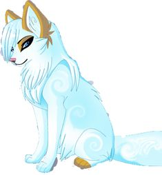 MoonDust- Can be shy but mostly funny. Has the secret power to be able to turn into a winged wolf. Is considered popular in wolf training.