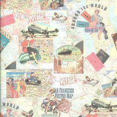 Papel decorativo viajes | Ref. 0197 - Mi Mundo en Papel