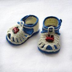 Crochet baby sandalsCrochet boys by NPhandmadeCreations on Etsy