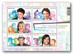 Canada Post - Canadian Comedians: Souvenir Sheet of 5 Stamps - Stamps
