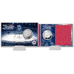 Winnipeg Jets Highland Mint History Coin Card - $19.99
