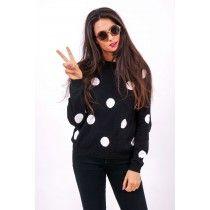 MINKPINK Pierrot Sweater #minkpink #ecommerce #zadenrow #nyc #fashion #polkadot #sweater