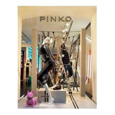 """PINKO, Via Montenapoleone, Milan, Italy, """"Fluid shapes and harmonious curves: time for you to discover C-Clique at Pinko... There waiting for you!"""", pinned by Ton van der Veer"""