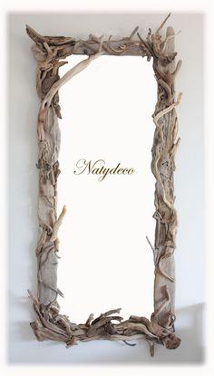Miroir en bois flotté NATYDECO  http://www.natydecocorse.com