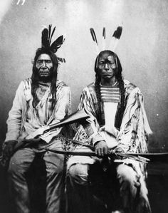 American Indians : Gros Ventre Men 1872.