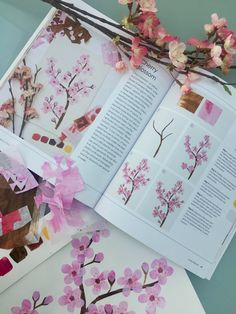 Painted Botanical Collage by Tracey English Quarry books Easter Colouring, Hand Coloring, Painted Paper, Hand Painted, London Icons, House Gifts, Art Lesson Plans, Colored Paper, Surface Pattern Design