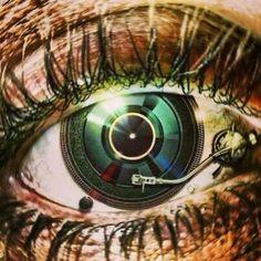 Eye on the MUSIC! dj. #djculture #djart #musicart http://www.pinterest.com/TheHitman14/dj-culture-vinyl-fantasy/