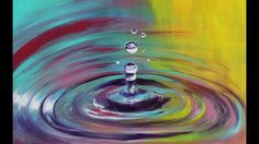How to paint colorful water drops -  Droplets Step by step realistic tut...