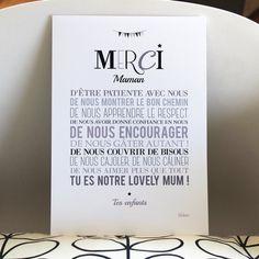 Image of Affiche Merci Maman