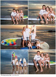 Family Photo Idea: Beach Surfers