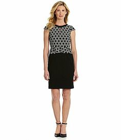Tahari by ASL Peplum Dress #Dillards