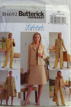 Butterick 4692 Misses'/Misses' Petite Jacket, Skirt and Pants