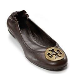 53d8026b1345 Tory Burch Reva Ballet Flat With Elastic Back Leather Ballet Flats
