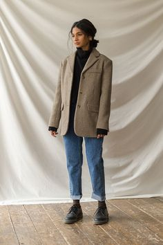 Mode Outfits, New Outfits, Fall Outfits, Fashion Outfits, Blazer Outfits Casual, Blazer Fashion, Professional Outfits, School Fashion, Minimal Fashion