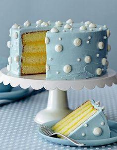 Beautiful cake. Blue Icing