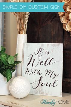 Use this simple technique using a Sharpie to create a beautiful custom sign for your home!