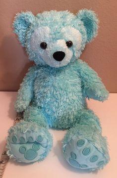 Walt Disney World Hidden Mickey Mouse Pre Duffy Plush Teddy Bear Green Mint Aqua #Disney