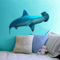 Hammerhead Shark Sea Life Vinyl Decal  by WilsonGraphics on Etsy, $30.00