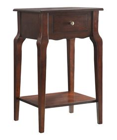 Another great find on #zulily! Espresso Chilton Two-Tier Accent Table #zulilyfinds
